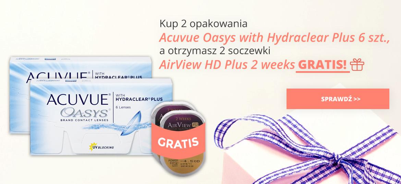Acuvue Oasys 6 szt. + 2 soczewki AirView HD Plus 2 weeks